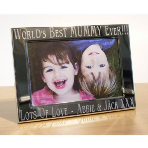 Personalised Worlds Best Mummy Mum Photo Frame Gift